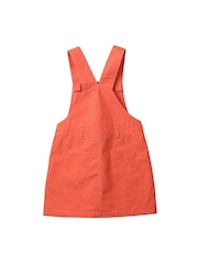 Beebay Girls Coral Orange Dungarees with Embroidered Detail