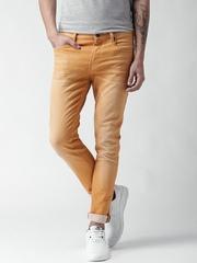 Scotch & Soda Men Orange Skinny Fit Mid-Rise Clean Look Jeans