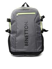 United Colors of Benetton Men Grey Laptop Backpack
