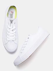 Kook N Keech Unisex White Solid Sneakers