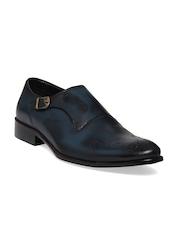 Franco Leone Men Navy Monk Formal Shoes