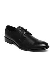Franco Leone Men Black Leather Formal Brogues