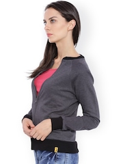 Campus Sutra Charcoal Grey Jacket