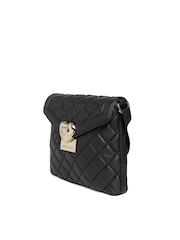 LOVE MOSCHINO Black Quilted Handmade Sling Bag