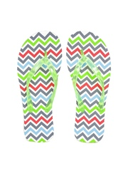 DressBerry Women Multicoloured Chevron Print Flip-Flops