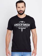 WWE Men Black Printed Round Neck T-shirt