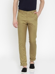 Allen Solly Men Khaki Chino Trousers