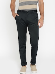 Allen Solly Men Navy Blue Chino Trousers