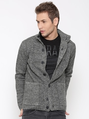Antony Morato Men Grey Patterned Cardigan