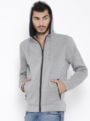 Antony Morato Grey Melange Hooded Sweatshirt
