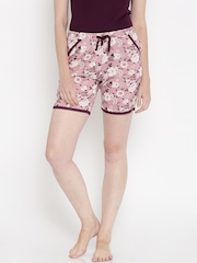 Jockey Woman Mauve Floral Print Lounge Shorts RX10-0103