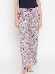Jockey Woman Pink & Grey Printed Lounge Pants 1316-0103-RL049