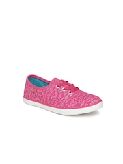 Boltio Girls Pink Printed Sneakers