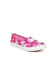 Boltio Girls Pink Floral Print Sneakers