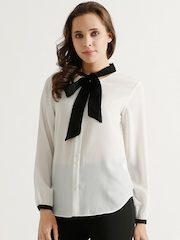 COVER STORY White Polyester Top