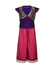 Twisha Girls Purple & Pink Clothing Set