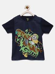 YK Disney Boys Navy Mickey Round Neck T-shirt