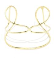 ToniQ Gold-Toned Cut-Out Detail Cuff Bracelet