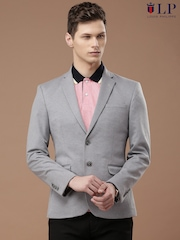 Louis Philippe Sport Grey Melange Steven Super Slim Fit Single-Breasted Blazer