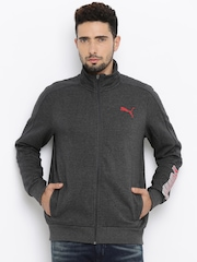 PUMA Charcoal Grey Hero FZ FL Quilted Jacket