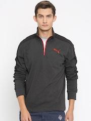 PUMA Charcoal Grey Slim Fit Sweatshirt