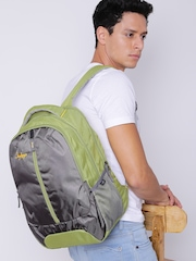 Skybags Unisex Grey & Green Flux 02 Laptop Backpack