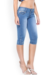 Xblues Blue Slim Denim Capris