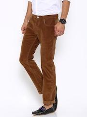 Lee Men Brown Corduroy Trousers