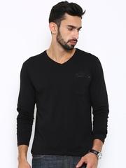 Lee Men Black T-Shirt