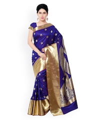 Varkala Silk Sarees Blue Kanjeevaram Art Silk Traditional Saree