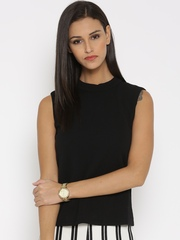 United Colors of Benetton Black Patterned Top