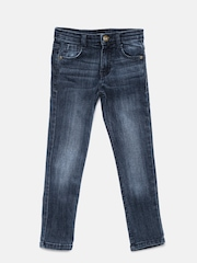 Yellow Kite Boys Blue Regular Fit Mid-Rise Jeans