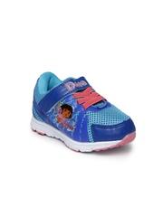 Dora Girls Blue Printed Sneakers