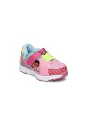 Dora Girls Pink Printed Sneakers