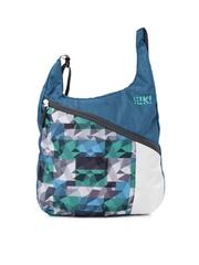 Wiki by Wildcraft Men Blue Printed Messenger Bag