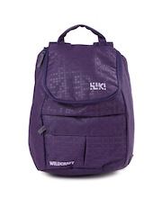 Wiki by Wildcraft Kids Purple Texture Backpack