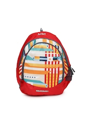 Wiki by Wildcraft Kids Red Printed Junior 1 Backpack