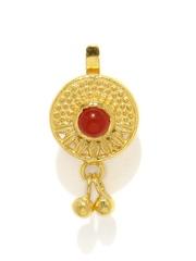 Fabindia Anusuya Gold-Plated Silver Onyx Stone-Studded Nose Pin
