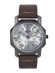 Roadster Men Grey Printed Dial Watch RD2-F