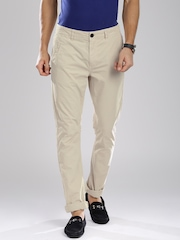 Breakbounce Beige Street Smart Fit Chino Trousers