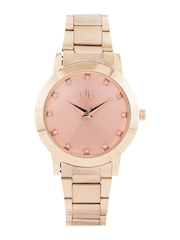 DressBerry Women Rose Gold-Toned Dial Watch DB1-A
