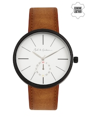Mast & Harbour Men Off-White Analogue Watch MH4-B