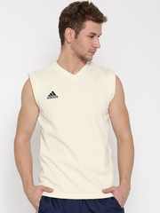 Adidas Off-White Sleeveless Cricket Sweatshirt