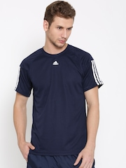 Adidas Men Navy Base 3S Round Neck Training T-shirt