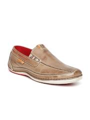 Buckaroo Men Brown Leather Slip-Ons