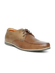 Buckaroo Men Brown Leather Handmade Casual Shoes