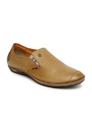 Buckaroo Men Tan Brown Leather Slip-Ons