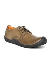 Buckaroo Men Brown Leather Perforated Sneakers