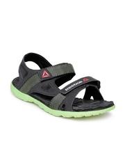 Reebok Men Black & Green Ultra Adventure Sports Sandals