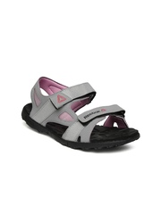 Reebok Women Grey & Pink Sports Sandals